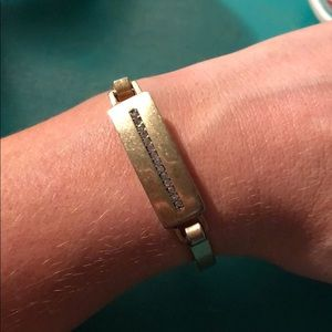 JCrew gold and crystal bangle 💎
